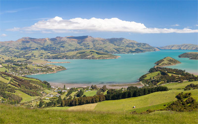 Overlooking Akaroa Harbour